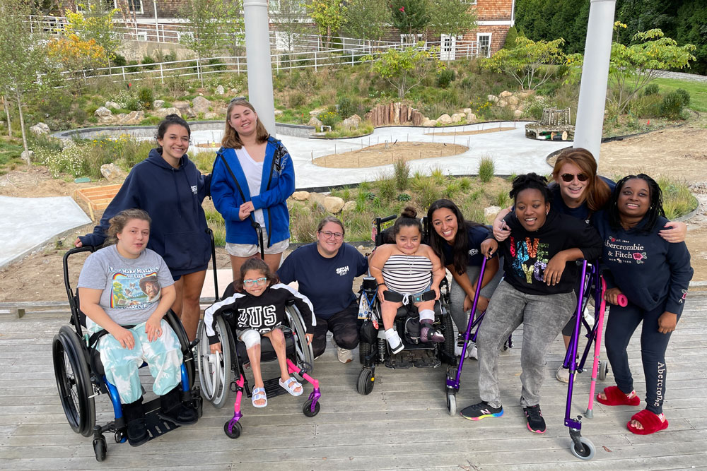 Group photo of children with different abilities