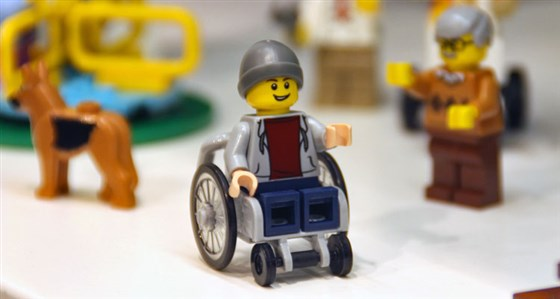 Lego figurine in a wheelchair
