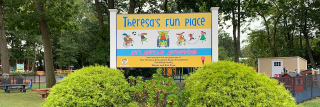 Theresa's Fun Place playground sign